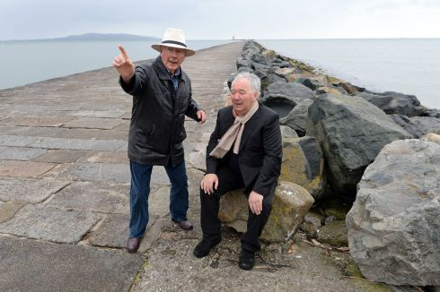 Gay Byrne and Harry Crosbie at The Great South Wall, Pooolbeg, Dublin in 2015. Photograph: Eric Luke/The Irish Times