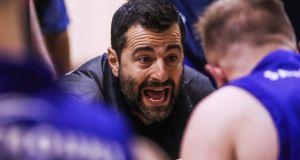 "UCD Marian head coach Ioannis Liapakis: ""We are really looking forward to the game, but we haven't forgotten that we lost twice to them last year, so we know it will be tough."" Photograph: Tommy Dickson/Inpho"