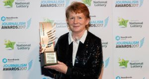 Historian Catherine Corless,  who received a special award for investigative research at the NewsBrands Ireland Journalism Awards.