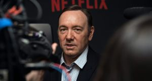 Actor Kevin Spacey arriving for the season four premiere  of the Netflix show House of Cards in Washington, DC, in February last year. Production of  season six of the show has been suspended  in the wake of sexual misconduct allegations against Spacey. File photograph: Nicholas Kamm/AFP/Getty Images