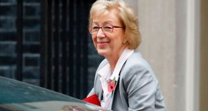 Britain's leader of the House of Commons Andrea Leadsom accused former defence secretary Michael Fallon of behaving inappropriately towards her.  Photograph: Tolga Akmen/AFP/Getty Images