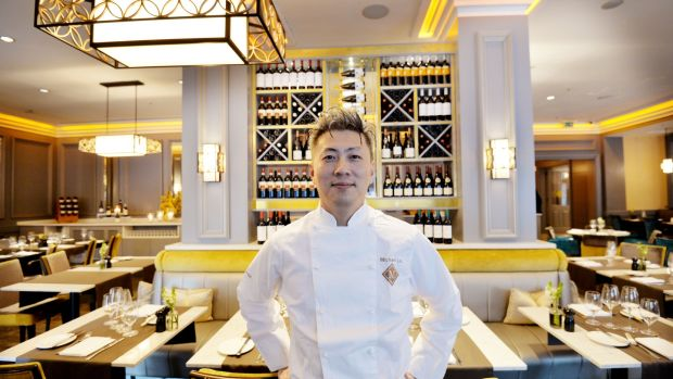 Michael Liu Yiming, sous chef at the Westin hotel. Photograph: Alan Betson