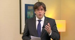 Deposed Catalan president Carles Puigdemont in Brussels, Belgium. His lawyer has already said his client will fight extradition without seeking political asylum.