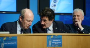 From left  Shane Ross, John Halligan and Finian McGrath. File photograph: Alan Betson