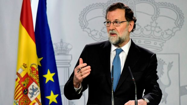 Spanish prime minister Mariano Rajoy has been using coercion rather than argument in Catalonia. Photograph: Javier Soriano/AFP/Getty Images