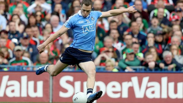 Dublin's Dean Rock scores the winning point in the All-Ireland final against Mayo at Croke Park. Photograph: Tommy Dickson/Inpho