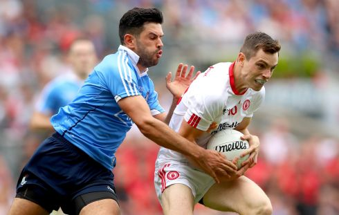 Cian O'Sullivan (Dublin) Played a more regulation centre-back's role this season, as opposed to the deep-lying sweeper of before. The organisational brains of the Dublin defence. Second All Star. Photograph: James Crombie/Inpho