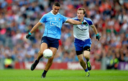 James McCarthy (Dublin) Second award for the powerhouse of the Dublin midfield. Outstanding in the All-Ireland final, particularly in the closing stages with the game on the line. Photograph: James Crombie/Inpho