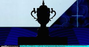 Rugby's Webb Ellis Cup: unlikely to be handed out to the winners of the 2023 World Cup in any Irish stadium