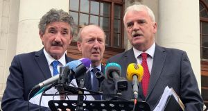 Ministers John Halligan, Shane Ross and Finian McGrath sought permission for a parliamentary visit to North Korea through the embassy. Photograph: RollingNews.ie