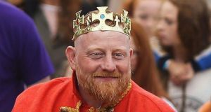 Andrew O'Neill: the man behind the Old County Road accommodation where 64 people were living, was crowned 'King of the Gingers' last year. Photograph: Brian Lawless/PA