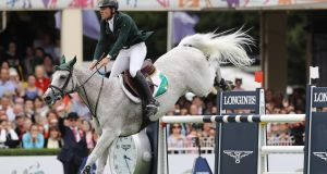 Mark McAuley on Miebello in August at the RDS. Photograph: Inpho