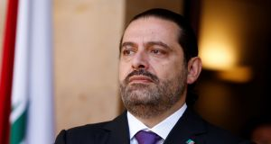 Lebanon's prime minister Saad al-Hariri is seen at the governmental palace in Beirut, Lebanon on October 24th. Photograph: Mohamed Azakir/Reuters