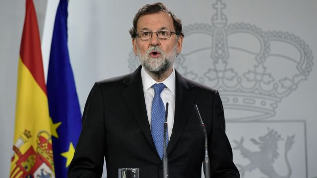 Spanish prime minister Mariano Rajoy called a December 21st election after firing the previous government and imposing direct rule. Photograph: AFP/Getty Images