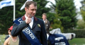 Ireland's Denis Lynch enjoyed his first visit to the CP National Horse Show in Kentucky this weekend. Photograph: Getty Images