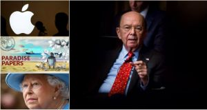 Wilbur Ross (main image), Britain's queen and the Apple logo
