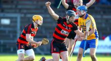 Ballygunner's JJ Hutchinson celebrates scoring a goal  in the AIB  Munster Club SHC semi-final at  Walsh Park. Photograph: Ken Sutton/Inpho