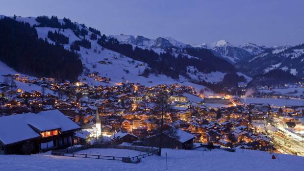 Gstaad at dusk