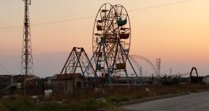 An abandoned amusement park on the outskirts of al-Waer, a suburb of Homs. Photograph: Michael Jansen