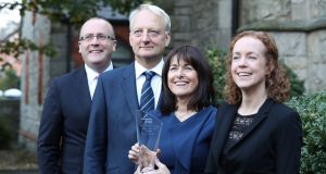 Niall May,  John Glennon, Catherine Corcoran  and Áine Farrelly of RSM Ireland. The accountancy and professional services company has been named RSM member firm of the year. Photograph: Jason Clarke