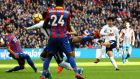 Son Heung-min  of Spurs scoring against Crystal Palace at Wembley. Photograph:   Matthew Lewis/Getty Images