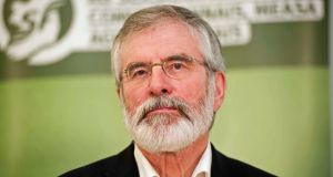 "Sinn Féin president Gerry Adams:  ""We are very much in support of the repeal of the eighth amendment in the Constitution, we want to see that gone."" Photograph: Mark Marlow/PA Wire"