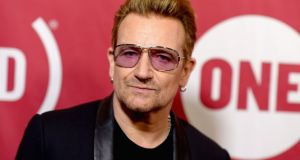 Bono attends a ONE Campaign event in New York in 2015. Photograph:  Dave Kotinsky/Getty