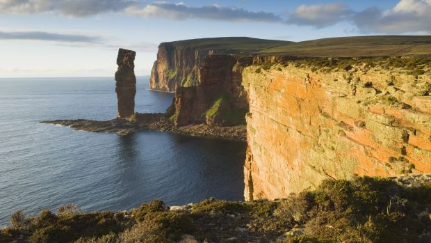Steph Booth travelled to Orkney to scatter her husband Tony's ashes