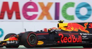 Red Bull at the  Formula 1  grand prix in Mexico.