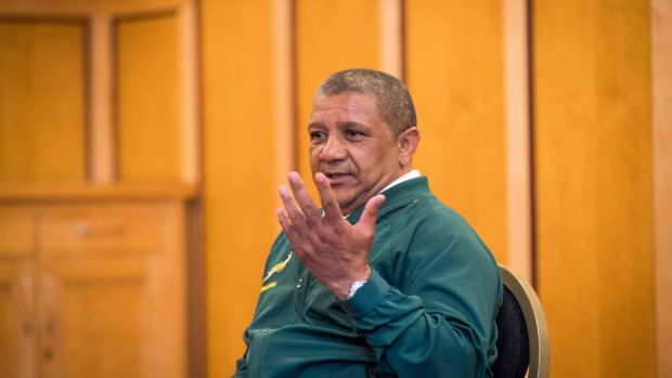 Allister Coetzee has indicated that Rassie Erasmus won't link up with the Springboks this week. Photograph: Morgan Treacy/Inpho