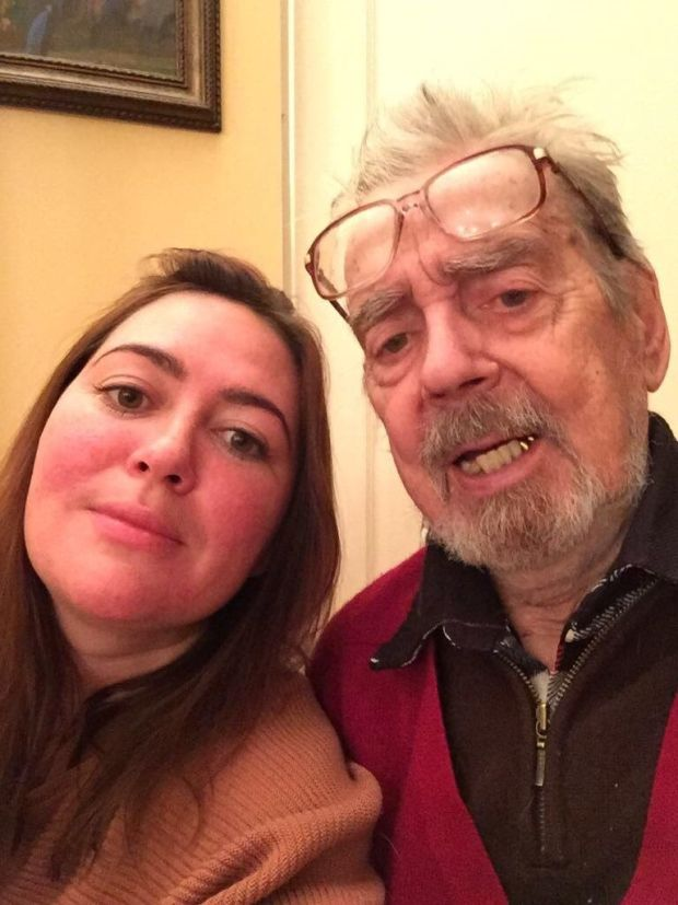 Elena Alliloueva-Lorigan with her grandfather Alexander who Stalin bounced on his knee.