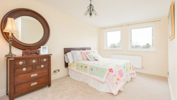 The two downstairs bedrooms at 22 Ardagh Drive in Blackrock are smaller doubles.