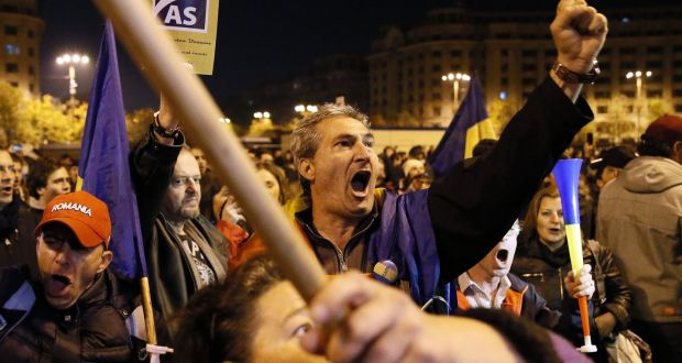 Romania's ruling party defends reform plans as protests reignite
