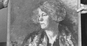 A portrait of  Mary Colum by George Russell  was presented  by Padraic Colum to the Sligo Museum Committee. Photograph: The Irish Times