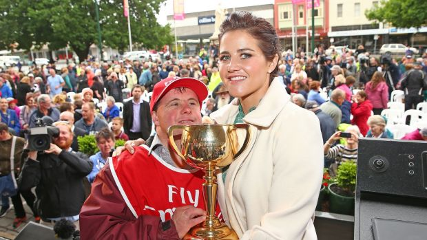 In 2015 Michelle Payne became the first woman jockey to win the Melbourne Cup. Photo: Scott Barbour/Getty Images