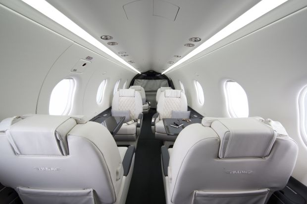 Pilatus: one of the options for the interior of the PC-12, the type of aircraft bought by Jerry Kennelly and Ray Nolan