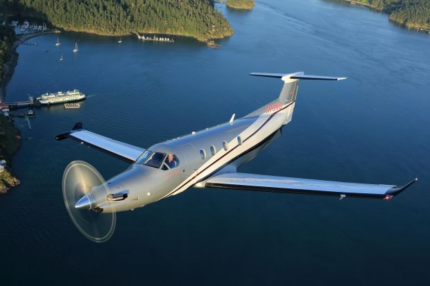Pilatus: a PC-12, the type of aircraft bought by Jerry Kennelly and Ray Nolan