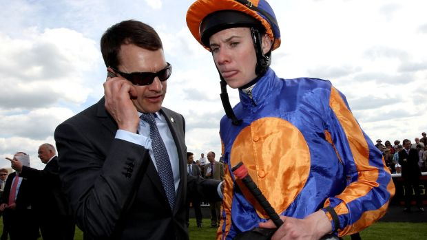 Aidan O'Brien with his son Joseph O'Brien back in 2015. Photograph: Ryan Byrne/Inpho