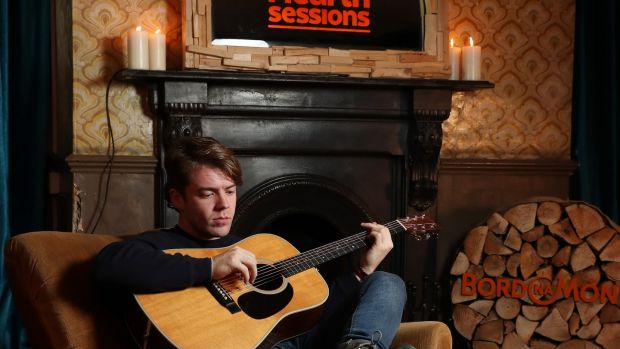 John Doherty of Little Hours: their acoustic, piano-driven sounds will be well suited to the Hearth Sessions.