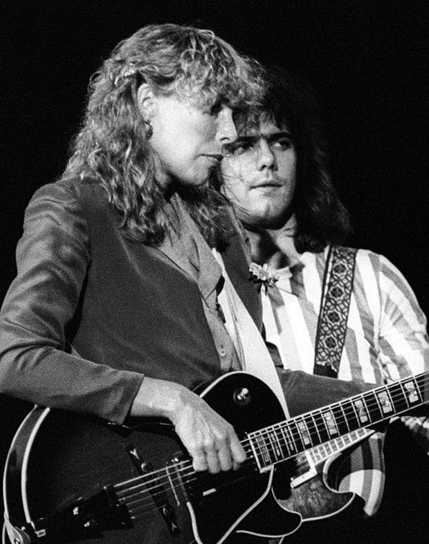 Joni Mitchell and Pat Metheny: Metheny played lead guitar on Mitchell's 1980 live album Shadows and Light
