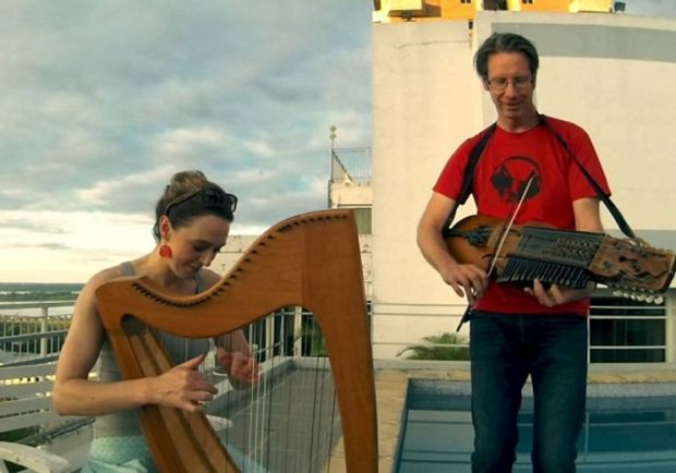Scottish harper Catriona McKay and Olov Johansson on nyckelharpa