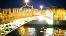 Paddleboarding down the Liffey at night is 'strangely beautiful and a little bit eerie'
