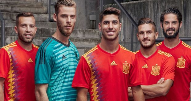c2c3c623d The jerseys the Spanish national soccer team will be using at the 2018 Fifa  World Cup