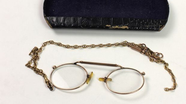 A pair of WB Yeats's glasses estimated at €500-€600