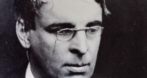 WB Yeats wearing his signature glasses.