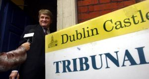Paradise Papers: Denis O'Brien arriving to give evidence at the Moriarty tribunal in 2001. Photograph: Bryan O'Brien