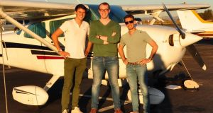 Wingly founders Emeric de Waziers, Lars Klein, Bertrand Joab-Cornu: The French company  is hoping to bring the concept of the sharing economy to aviation and is looking for Irish passengers and pilots