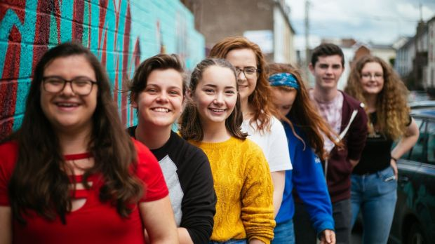 A group of teenagers involved in the LITfestival of reading and writing for young people