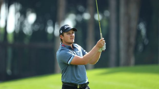 Eddie Pepperell was one of two players who managed to retain his European Tour card in 2017 after securing it via Q-School. Photograph: Richard Heathcote/Getty