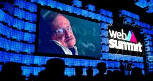 "British  theoretical physicist and author Stephen Hawking:  he said artificial intelligence could be ""be the best or worst thing to ever happen to humanity"" during his keynote speech at the Web Summit in Lisbon, Portugal. Photograph: Patricia De Melo Moreira/AFP/Getty Images"
